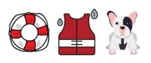 french bulldog swimming vest